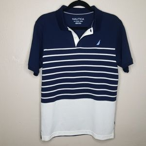 XL 18 Boys Nautica Striped Polo Golf Shirt Tee C